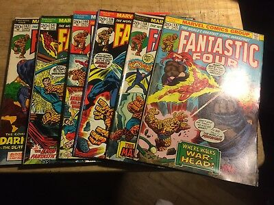 (Bronze Age) Fantastic Four #137-142 Lot of 6 comics