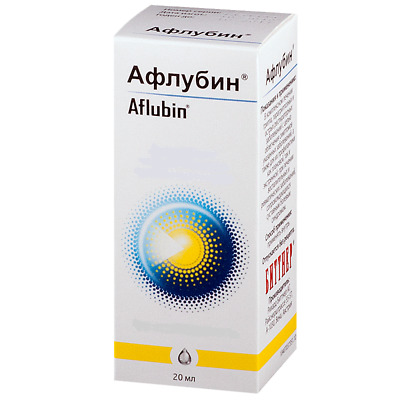 AFLUBIN Bittner Homeopatic drops. Cold & Flu, Cough, Sore Muscles, Infection.