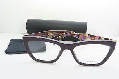 b8362e03d1 NEW PRADA VPR14Q Eyeglasses Frames Purple Marble ROM-1O1 Authentic ...