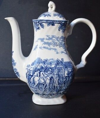 myotts country life coffee pot hand engraved englsh scene