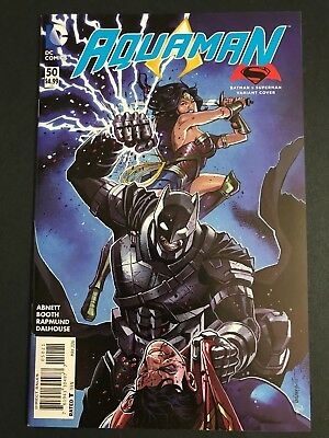 AQUAMAN #50 BATMAN V SUPERMAN VARIANT COVER BVS DC Comics 2016 1st Print VF/NM