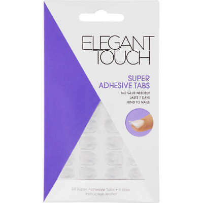Elegant Touch Super Adhesive Nail Tabs. Press On For False Nails 24 Tabs 6 Sizes
