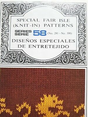 Pc165 Brother Knitting Machine Patterns Punch Cards Series 58 291-3000 Fair Isle