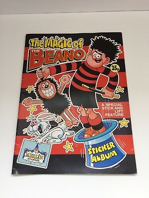 The Magic Of The Beano Sticker Album 1989 Merlin Stickers
