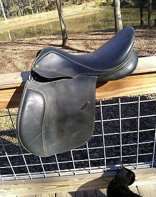 """18"""" Collegiate Senior Event Saddle- black XW great for Drafts and warmbloods"""