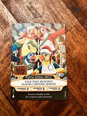 Mickey's Very Merry Christmas Party 2018 Sorcerers Magic Kingdom Card Tiki Room