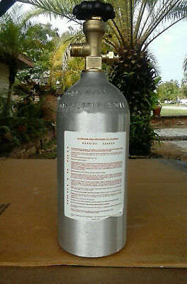 Brand New All Aluminum 2,1/2 LB CO2 Gas Bottle With Solid Brass Valve Never Used