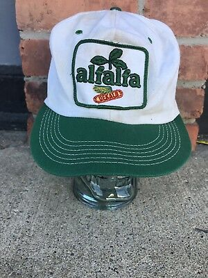 f2af64762e8 Vintage ALFALFA DEKALB SnapBack Patch Trucker Hat Cap K BRAND MADE USA Farm