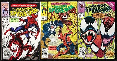 The Amazing Spider-Man #361 362 363 1st FIRST CARNAGE - Marvel 1992 - HOT KEY