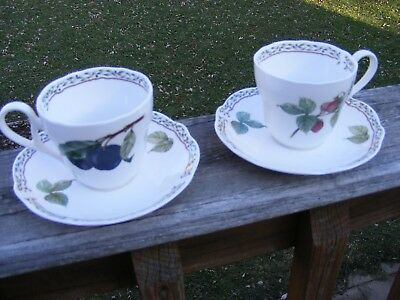 (2) Noritake ROYAL ORCHARD 9416 Cups & Saucers