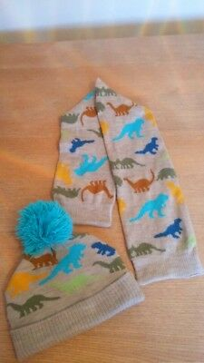 Next boys dinosaur hat and scarf 3-4 years