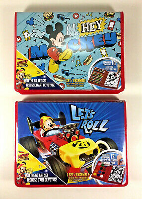 NEW Disney MICKEY MOUSE the Go ART SET Carry