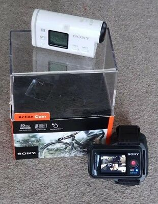 Sony HDR-AS100V Action Cam inkl. RM-LVR1 Live View Armband und Schutzgehäuse