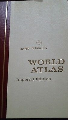 Vintage Rand McNally world Road Atlas Imperial edition