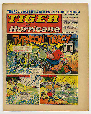 Tiger 6th Jan 1968 (Jet-Ace Logan, Olac The Gladiator, Roy of the Rovers...)