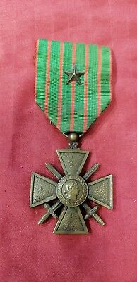 WW1 French Croix De Guerre Medal 1914-1916 with star.