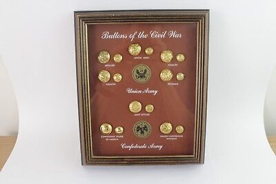 Vintage Buttons of the Civil War Reproduction Framed Collection