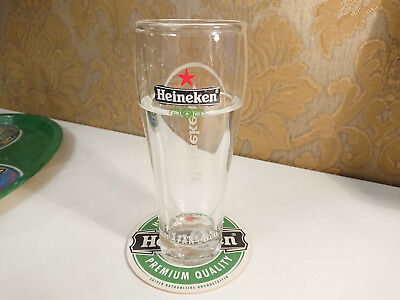 HEINEKEN Extra Cold Double Glass With Cooling Fluid Pilsner Beer Glass 300ml