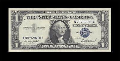 1957 United States Silver Certificate $1 (( Ef+ ))