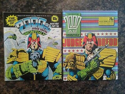 Best of 2000AD Monthly, Issue 18: March 1987 and Issue 35: August 1988
