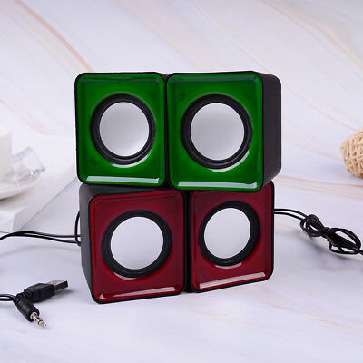 Mini 3.5mm jack multimedia stereo sound box mini speaker for pc desktop FBHN