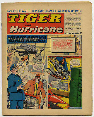 Tiger 1st April 1967 (Jet-Ace Logan, Olac The Gladiator, Roy of the Rovers...)
