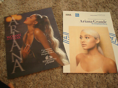 ARIANA GRANDE 2018 Billboard Woman of Year 2 ads from American Airlines Arena