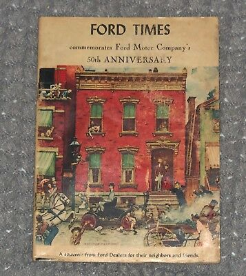 Vintage FORD TIMES 50th Anniversary Issue, July 1953