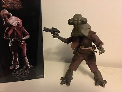 Sideshow Collectibles 1/6 Scale Momaw Nadon Hammerhead Star Wars excellent cond.