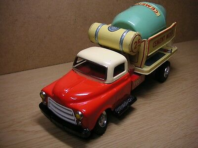 Modern Toys TM Ford Cement Mischer Blech Japan 50er Tin Truck Car Tole Latta