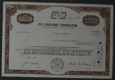 PVC Container Corporation 1980 1100 Shares .