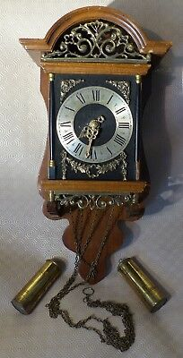 Antique Vintage Sallander Warmink Dutch Wall Clock , c1960, Salland style