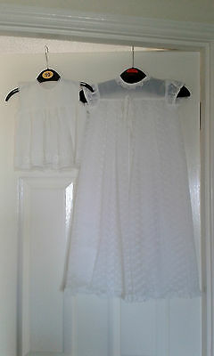 Long White Christening Dress Age Weight 12Lb & Short White Petticoat