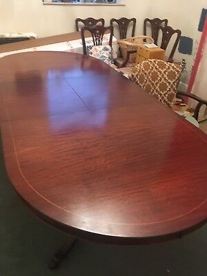 Mahogany extending oval 8ft dining table