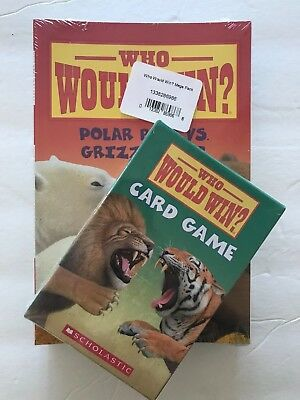 14 NEW Who Would Win BOOKS by Jerry Pallotta and CARD GAME