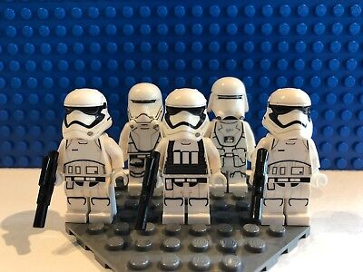 LEGO Star Wars Minifigure Lot First Order Snowtrooper, Flame & Stormtroopers x3
