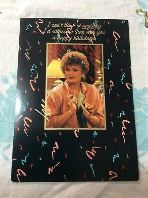 NOS Vintage Golden Girls Birthday Card Gibson Television Show Unused!