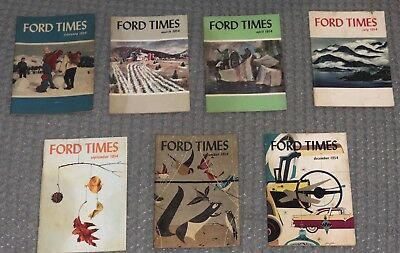 Lot of 7 Ford Times Factory Magazine Brochure 1954