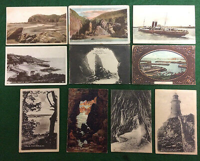 Collection topographical x10 Jersey 1900s-50s vintage postcards Channel Islands