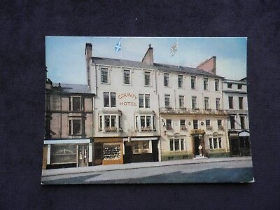 Vintage Scottish Postcard of The County Hotel, Dumfries