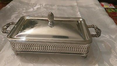 Sheffield Silverplated Covered Warmer Buffet Chafing Stand No Dish Small