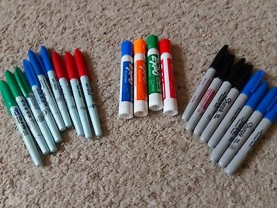 Expo dry erase, Vis a Vis wet ersae, Sharpie markers lot of 21