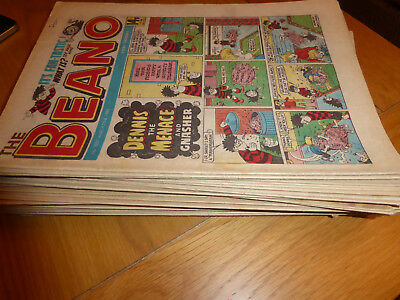 Job Lot Of 48 Beano Comics 1980's