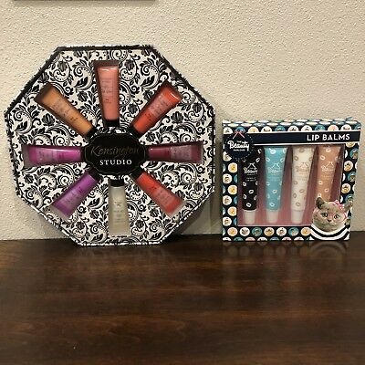 Lip Gloss & Lip Balm  Set (Flavored) Boxed Great Gift Stocking Stuffer 12 Pieces