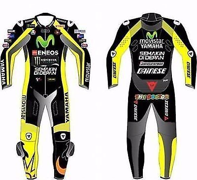 Custom Made Motorbike Motorcycle Racing Leather Suit 1&2 Pieces Cow Hide New