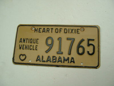Alabama License Plate Chevy Ford Ratrod  Antique Vehicle
