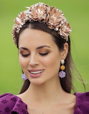 Morgan And Taylor Rose Gold Fascinator Headband Races Wedding Melbourne Cup