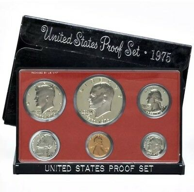 1975 US Mint Clad Proof Set, Gem Coins With Box