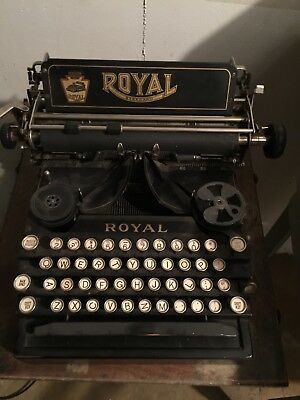 Used Royal 5 Typewriter with top. Carriage return, bell, works.