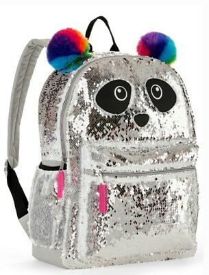 "Panda 2-Way Sequins Critter 16"" Backpack Bag Tote Compare to the $80 Justice"